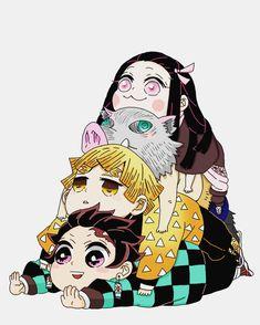 Demon Slayer: Kimetsu No Yaiba manga online Otaku Anime, Manga Anime, Fanarts Anime, Anime Demon, Anime Art, Goku Chibi, Draw Chibi, Sasuke Chibi, Bts Chibi