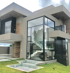 Dream home designs ideas. Currently, permit's find 20 incredible minimalist houses design, every one as appealing in addition to motivational as the adhering to. Minimalist House Design, Modern House Design, Modern Architecture House, Architecture Design, House Front Design, Modern Mansion, Modern Homes, Dream House Exterior, Villa Design