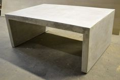 Concrete Coffee Table On A Steel Frame By Formd On Etsy Httpswww - Concrete slab coffee table