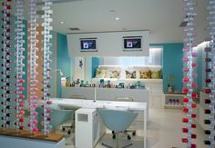 Bliss Hollywood manicure stations
