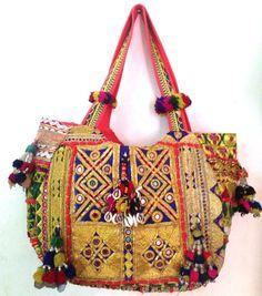 Vintage tribal kutchi banjara bag boho Indian by ROYALEJAYPORE, $99.00