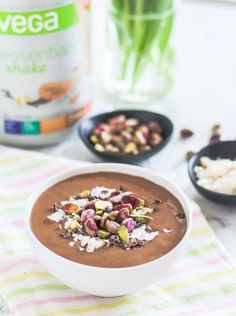 Perfect for Easter (or any chocolate lover's sweet tooth), this Chocolate Chai Pistachio Smoothie Bowl is high in protein and contains hidden greens that you won't even taste. Vegan, gluten-free, and one you'll be excited to wake up to!