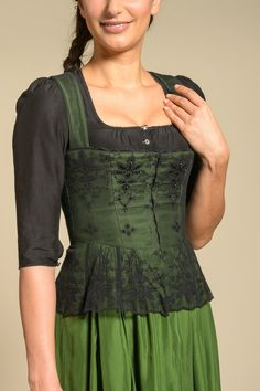Gössl Online Store - Dirndl blouse made of cotton silk jacquard