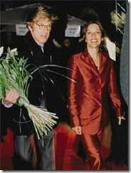 Sibylle Szaggars Robert Redford wife-photos