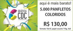 5000 Panfletos Color 10x15 apenas R$ 130,00