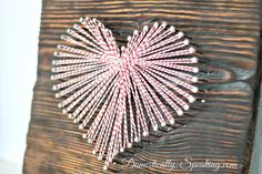 Cute Valentine's Art with Baker's Twine