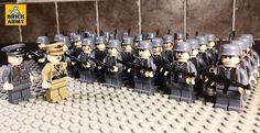 WW2 minifigure German Wehrmacht soldier army infantry + Lego brick, UK seller