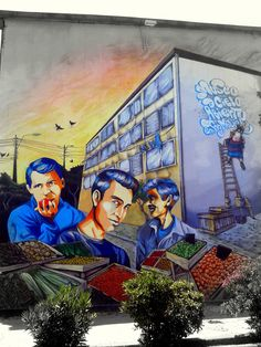 Street Art Museo a Cielo Abierto in Chile, Santiago, San Miguel 9
