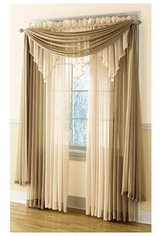 ideas for window curtains for living room 2014 Home Curtains, Curtains Living, Curtains With Blinds, Window Curtains, Valances, Kitchen Curtains, Sheer Curtains, Drapery, Curtain Styles