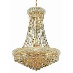 "House of Hampton Bayhills 14 Light Chandelier with Crystal Size / Finish / Crystal Trim: 28"" / Chrome / Strass Swarovski"