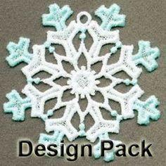 FSL Elegant Snowflakes machine embroidery designs