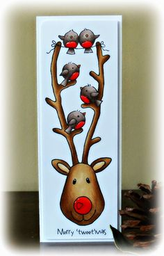 Just Love To Stamp: Woodware love the hat and Rudolph and friends