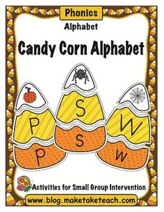 Super fun fall-themed center activity for learning letters and beginning sounds.