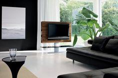 Design: Studio 28 Drehbarer TV Ständer Aus Holz, Mit Metallstruktur, Finish  Aus Aluminium Und Gehärtetem Glas. Erhältlich In Verschiedenen
