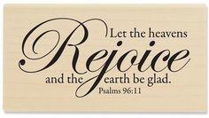 Heavens Rejoice - Rubber Stamps