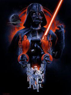 The Dark Side by Vance Kelly - Star Wars Poster - Ideas of Star Wars Poster - - Star Wars inspired artwork featuring Darth Vader. Star Wars Fan Art, Droides Star Wars, Star Wars Concept Art, Darth Vader Star Wars, Darth Vader Tattoo, Batman Tattoo, Star Wars Pictures, Star Wars Images, Star Wars Zeichnungen