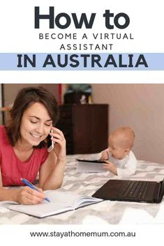 Working from home is the ultimate way of achieving a home/life balance once you have children. Here's how to become a Virtual Assistant in Australia. Work From Home Options, Work From Home Moms, Stay At Home, Money From Home, Work From Home Australia, Jobs Australia, Internet Jobs, Virtual Assistant Jobs, Job Career