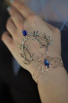 Elven bracelet Elven Jewelry ring bracelet bracelet leaf   Etsy Cuff Jewelry, Hand Jewelry, Wire Jewelry, Jewelery, Unique Jewelry, Slave Bracelet, Ring Bracelet, Loki Bracelet, Dragon Jewelry