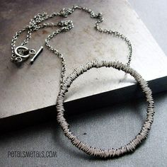 bramble necklace by petals & metals