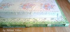 pallete bed with decoupage