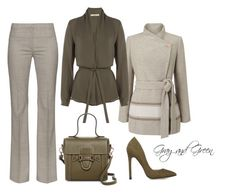 Gray and Green by billi29 on Polyvore featuring Etro, Jacques Vert, Altuzarra and Mario Valentino