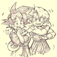 Goten and Trunks 「新しいおともだち!」/「Tako8N」のイラスト [pixiv]