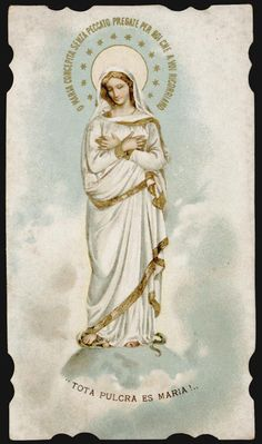 santino cromo-holy card S.LEGA -TOTA PULCRA ES MARIA FOR SALE • EUR 13,00 • See Photos! ANTICO SANTINO CROMOLITOGRAFICO- HOLY CARD CROMO- IMAGE PIEUSE ANCIENNE- ANTICK HEILIGENBILDCHEN LITHO. CM 11,5 X 6,7. costi di imballaggio e spedizione versand und verpackungskosten costs of packing and shipment il 252104481859 Vintage Holy Cards, Vintage Christmas Cards, Blessed Mother Mary, Blessed Virgin Mary, Christian Artwork, Lady Of Fatima, Queen Of Heaven, Sainte Marie, Holy Mary