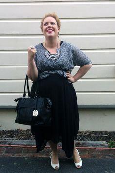 Mama's Style ~ My Style 10th January 2015 #aussiecurves #TS14+ #numberoneshoes #hellolovely #lovisa #monochrome #blackandwhite #stylehasnosize #plussize #ootd #ootdplus #plussizefashion #curvy #curvystyle #curvyootd #styleblogger #fashion #fatshion