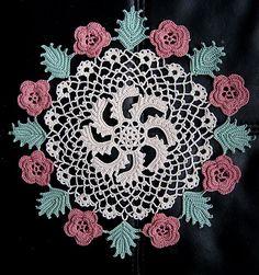Ravelry: Irish Rose Doily pattern by American Thread Company Crochet Table Runner Pattern, Crochet Tablecloth, Crochet Doilies, Crochet Home, Free Crochet, Knit Crochet, Chrochet, Doily Patterns, Crochet Patterns