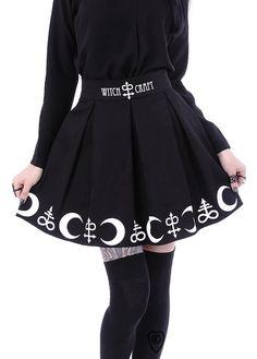 Restyle Symbol Gothic Skirt | Attitude Clothing