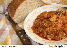 Hajdúcké zelí Food And Drink, Pork, Menu, Rice, Chicken, Vegetables, Ethnic Recipes, Red Peppers, Cooking