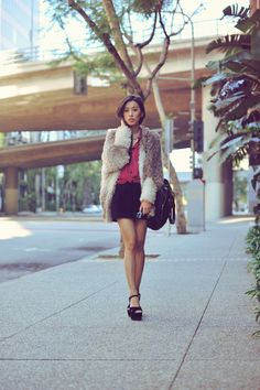 Neon Blush in Ombre Shag Jacket