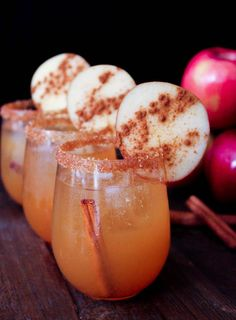 Spiced Cider Margaritas! The perfect fall cocktail via www.domesticate-me.com