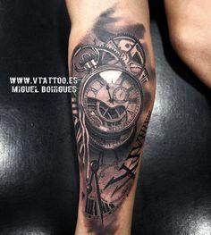 Tatuaje reloj - Miguel Bohigues - V Tattoo