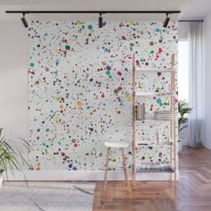 Rainbow Bubbles of Light Wall Mural by Katherine Friesen - X Turquoise Walls, Office Paint, School Murals, Bedroom Wall Designs, Pastel Colors, Vibrant Colors, Room Decor, Wall Decor, Mosaic Wall