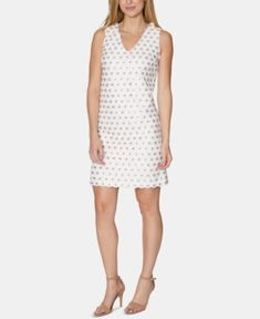 Laundry by Shelli Segal Sequinned Shift Dress - White/Champagne Laundry By Shelli Segal, Review Dresses, Baby Clothes Shops, Trendy Plus Size, Dress Collection, Dresses Online, Dress Outfits, White Dress, Dresses For Work