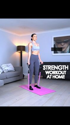 Full Body Hiit Workout, Band Workout, Gym Workout Videos, Gym Workout For Beginners, Gym Workouts, At Home Workouts, Desk Workout, Fitness App, Fitness Workout For Women