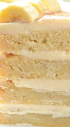 Banana Dream Cake with Cinnamon Cream Cheese Frosting ~ Seriously The BEST Banana Cake Ever.