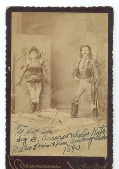 Carte De Visite Portrait Of Sig Arcaris And Sister Kate Their Knife Throwing Act Charles Eisenmann Ca 1890 Via Syracuse University Library