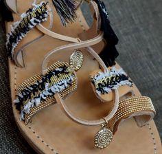 Greek leather sandal