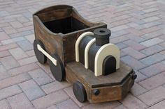 Wooden Train Photography Prop by TwinkleStarPhotoProp on Etsy