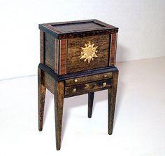 Cellarette Spirits Cabinet Dollhouse Miniature by CalicoJewels, $54.00