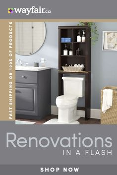 Renovate your bathroom with wayfair.ca! Sign up for 10% off your first order and up to 70% thousands of products! Shop top toilets, vanities, bathroom storage shelves, bathroom mirrors, and bathroom accessories! Your dream bathroom awaits. Bathroom Sink Vanity, Bathroom Kids, Bathroom Design Small, Bathroom Renos, Bathroom Mirrors, Master Bathroom, Bathroom Designs, Rustic Bathroom Decor, Bathrooms Decor