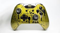 Gold and Black Splatter Xbox One Controller now available on ProModz.com .
