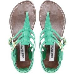 Steve Madden Flat Saahara Sandals, yay for summer shoes! Cute Shoes, Me Too Shoes, Shoe Boots, Ankle Boots, Steve Madden Flats, Madden Shoes, Nike Wmns, Summer Shoes, Summer Sandals