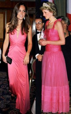 Kate in pink, Diana in pink