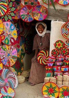 colorful market Ethiopia