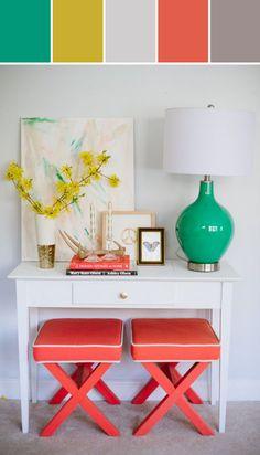 Un espacio pequeño puede tener mucha personalidad con detalles y una paleta de colores atrevida.