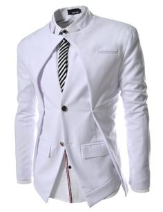 TheLees (NJK7) Mens Slim Fit Double Collar 2 Button Blazer Jacket White Large(US Medium) TheLees,http://www.amazon.com/dp/B008YF7J2A/ref=cm_sw_r_pi_dp_.77msb1W8RBRWZNW