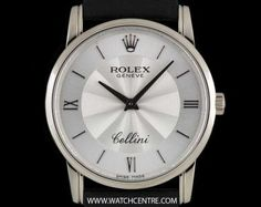 #Rolex 18k White Gold Silver Dial #Cellini Gents Wristwatch #5116 Luxury Watches, Rolex Watches, Watches For Men, Rolex Cellini, Used Rolex, Business Dresses, Patek Philippe, Avengers, White Gold